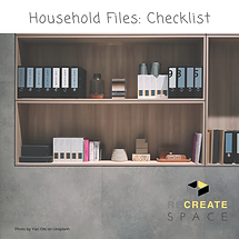 Check list for household files