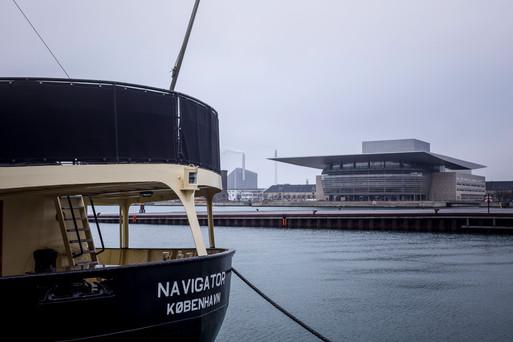 Boat parked in Copenhagen