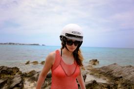 Helmet in the beach