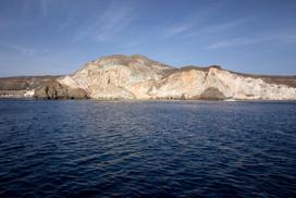 Shapes of Santorini's coast.