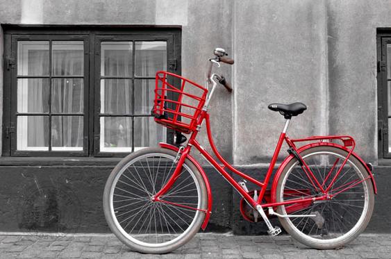 Bicycles in the streets of Copenhagen