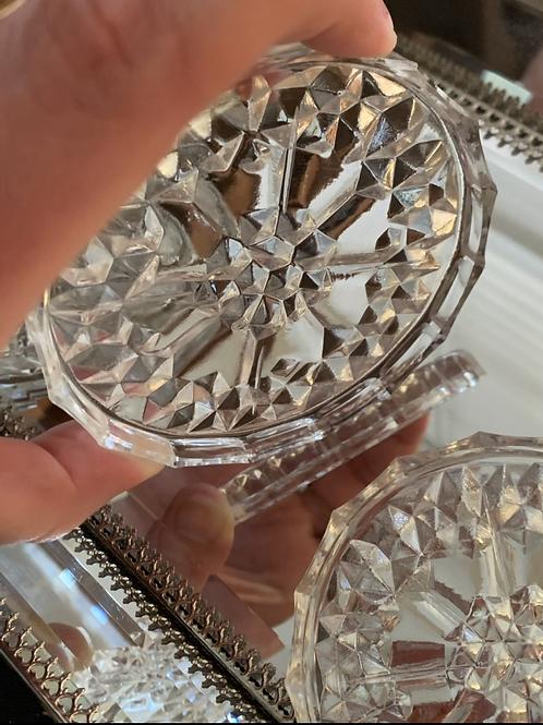 Cut Crystal Coaster Set