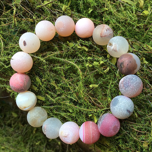 Pink Agate Intention Breacelet