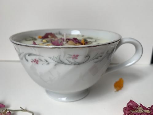 Vintage TeaCup Clary Sage & Rosemary