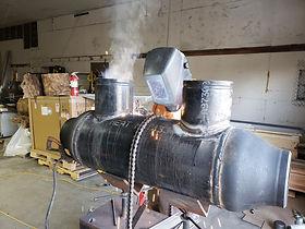Pipe welding fabrication at Pinnacle sho