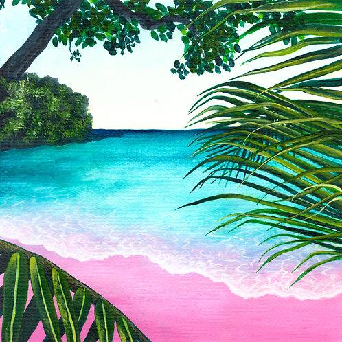Blushing Shores Print