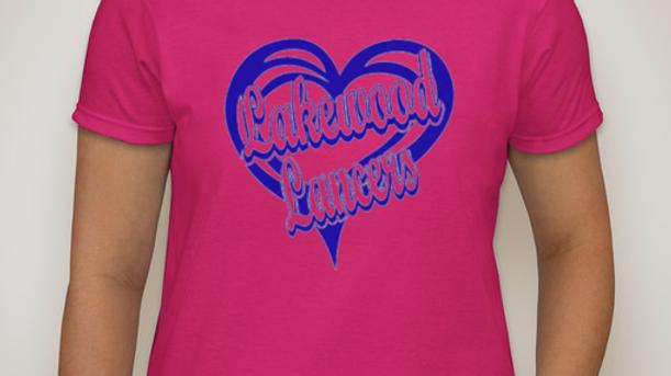 """Lakewood Lancers"" Glittery T-Shirt or Sweatshirt"