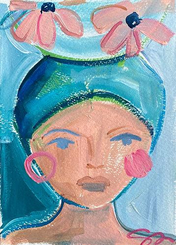 "5x7 ""Missy"" original painting on paper"
