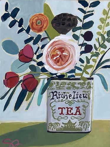 """9x12 """"Vintage Tea Tin"""""""