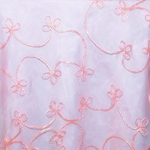 Table Runner ~ Pink O. w/Pink Ribbon