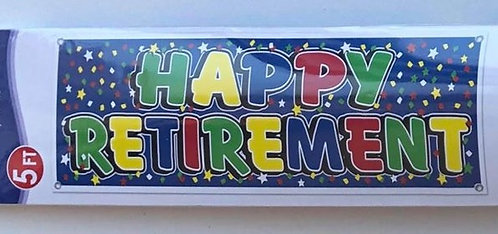 """Happy Retirement"" Colourful Banner"