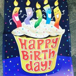 """Happy Birthday"" Cupcake Garden Sign"