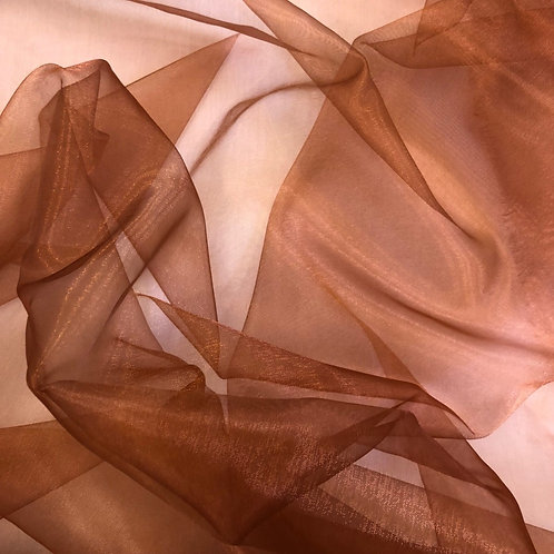 Table Topper ~ Chocolate Brown Organza