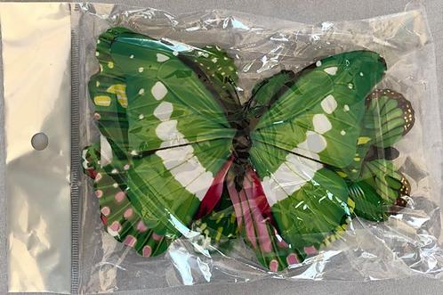 Green Paper Butterflies - 20 Multi-Sized Pack