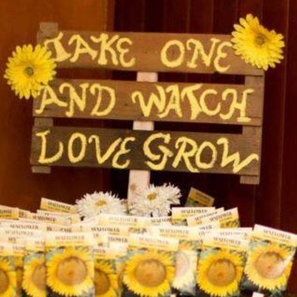 """Watch Love Grow"" Sign"