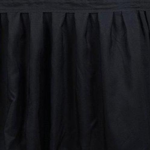 17' Skirt ~ Black Polyester