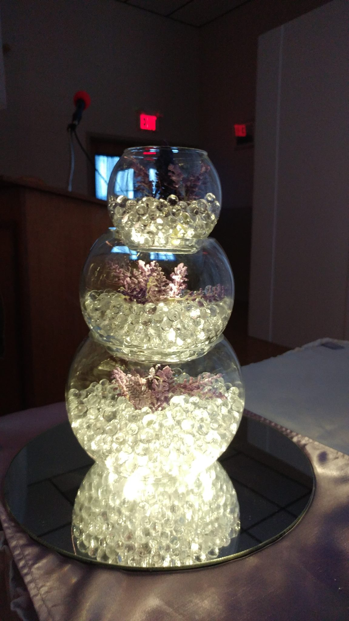 Lavender & Water Beads Centerpiece - Showroom Example