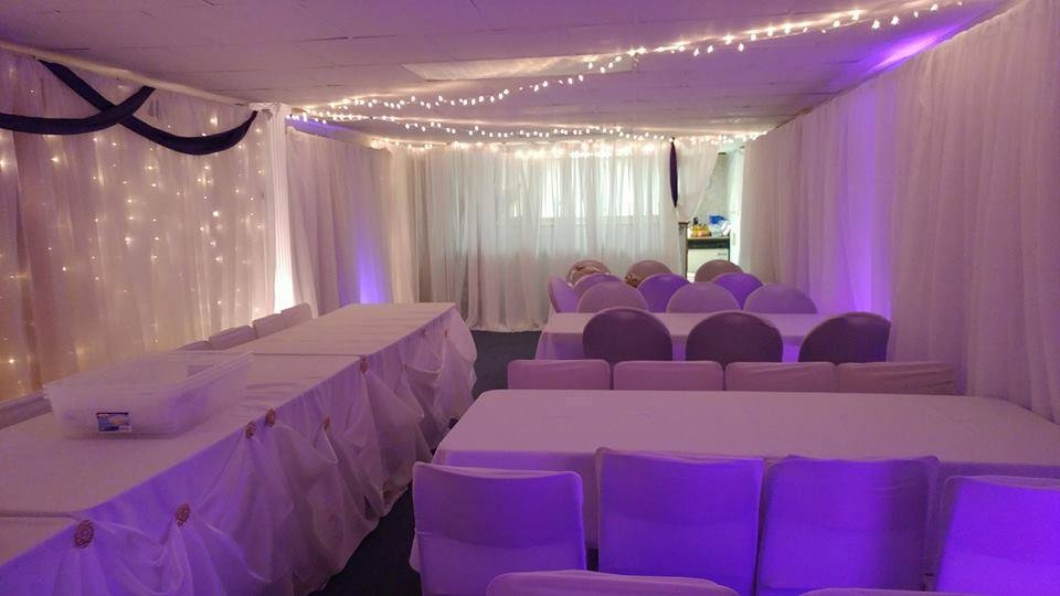 Full Room Mixed Backdrop & Lighting Arrangements