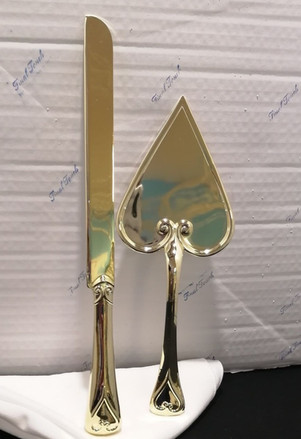 Gold Heart Handle Set
