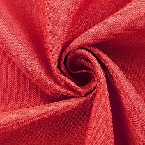 "108"" Round ~ Red Polyester"