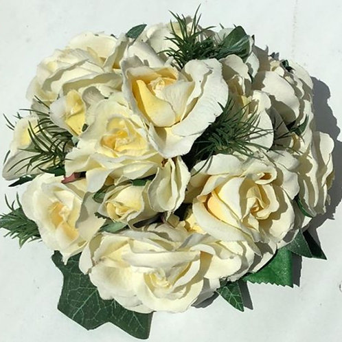 Flat Bouquet Of White Roses