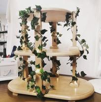 Oval Wood Cupcake Stand