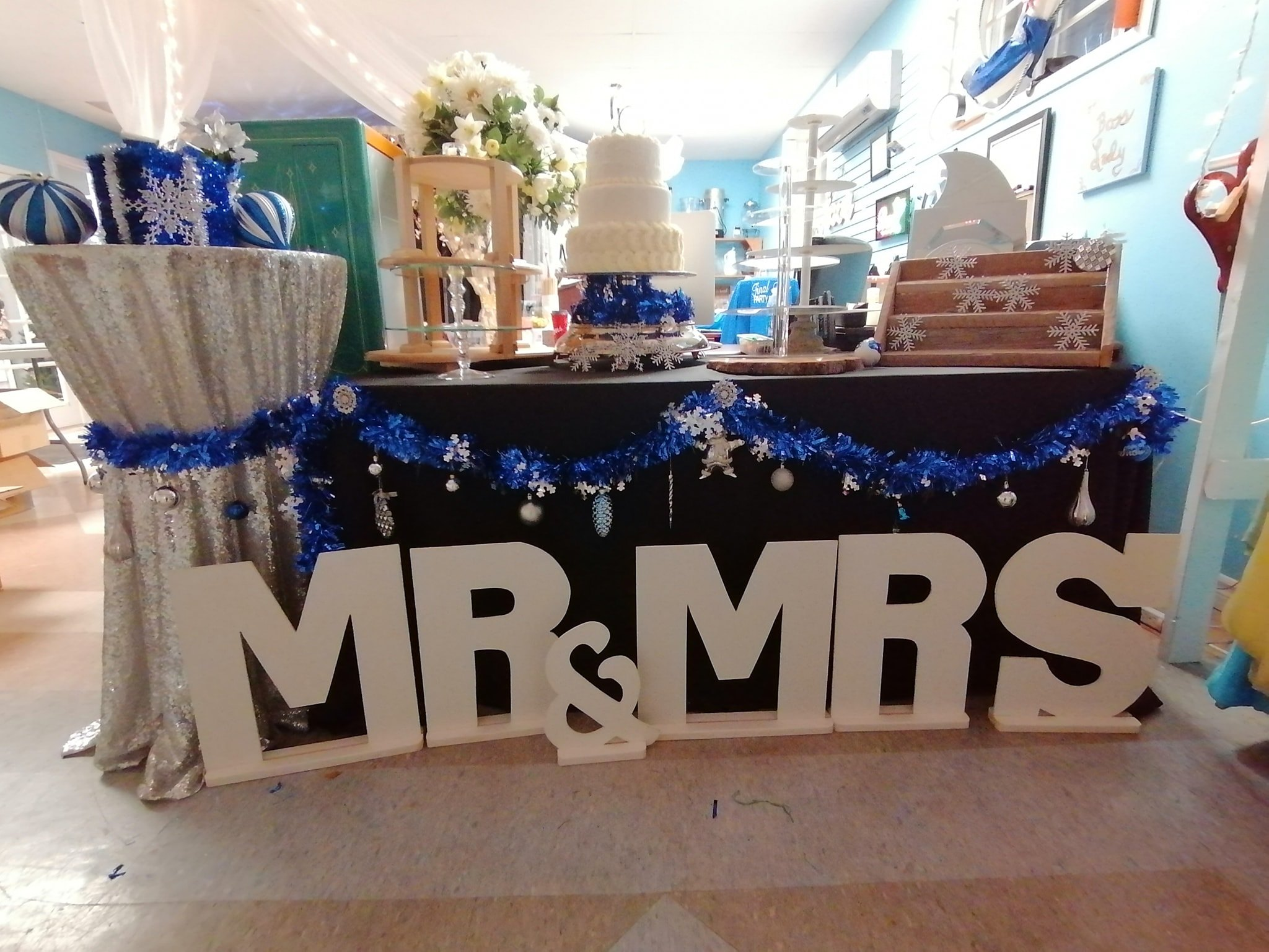 """Mr. & Mrs."" Wooden Letter Signs"