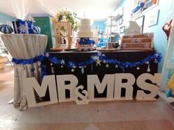 """Mr. & Mrs."" Wooden Letter Signs"