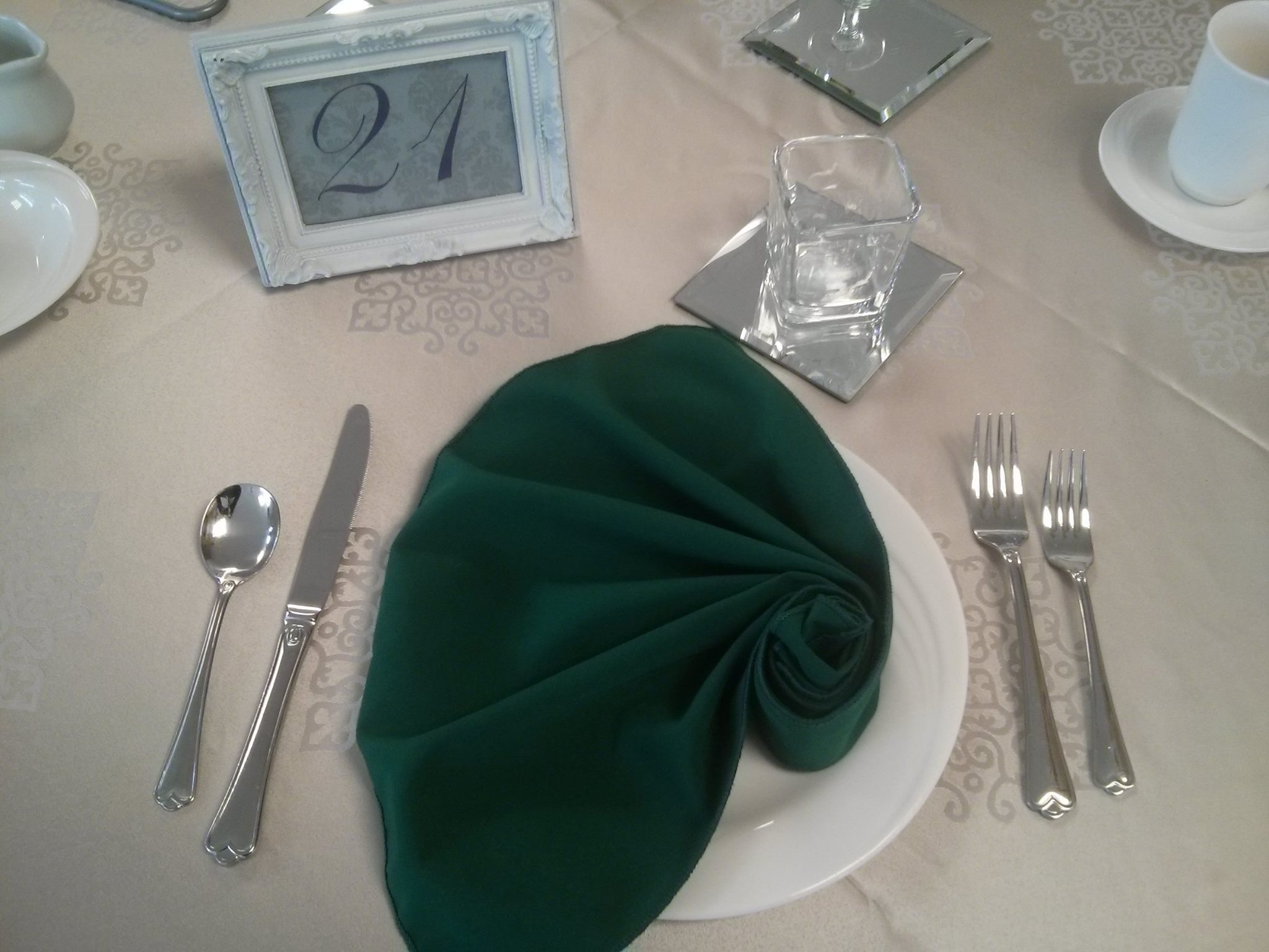 Place Setting Example - Seashell Napkin