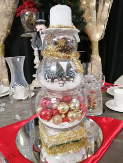 Snowman Village Centerpiece - Showroom Example