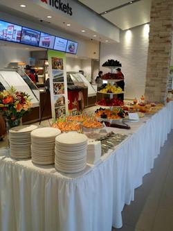 Fruit Buffet Line Setup