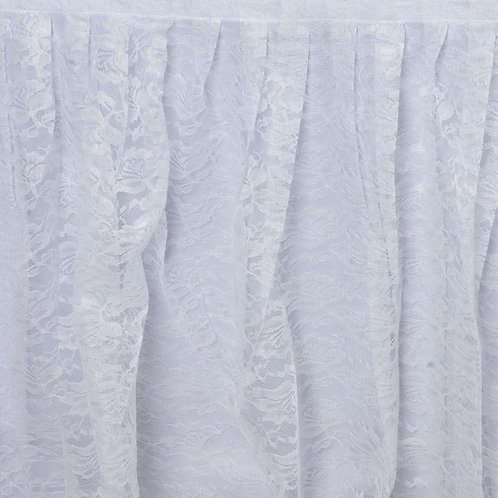 14' Skirt ~ White Lace