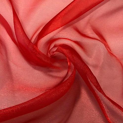 Table Topper ~ Red Organza