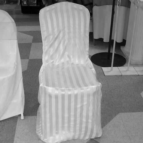 Fitted Chair Cover ~ White Striped