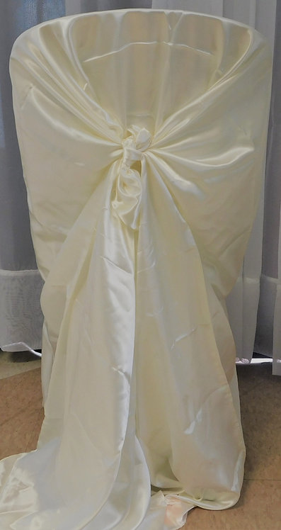 Chair Cover ~ Ivory Satin (Full)