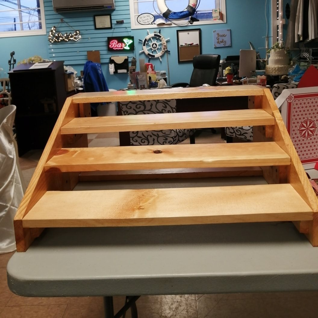 Wood Step Cupcake Stand