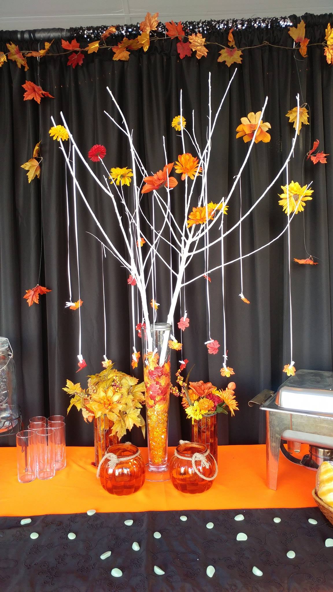 Falling Leaves Centerpiece - Showroom Example