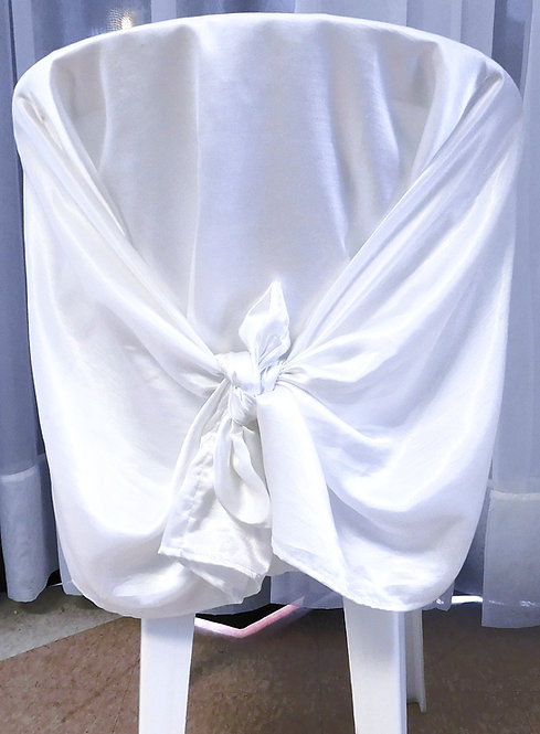 Chair Cover ~ White Satin (Back)