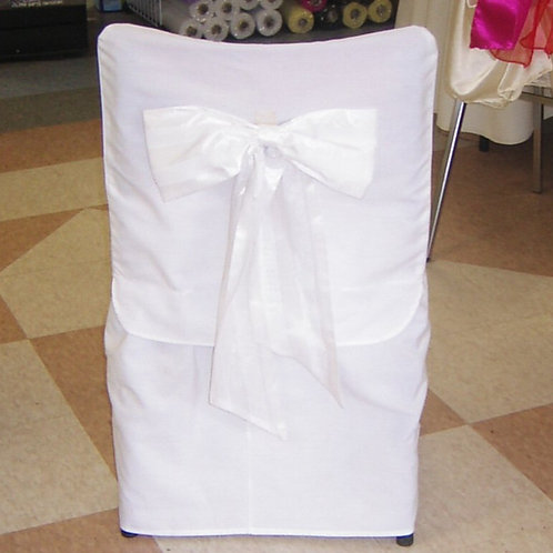 Fitted Chair Cover ~ White Cotton (Full)