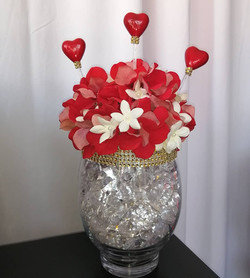 Royal Hearts Centerpiece - Showroom Example