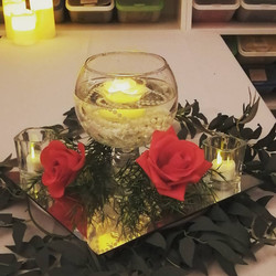 Rose & Pearl Centerpiece - Showroom Example