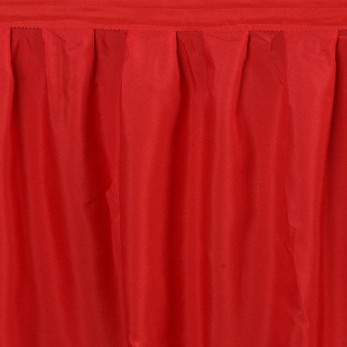 17' Skirt ~ Red Polyester