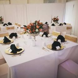 6 Guest Square Table Arrangement