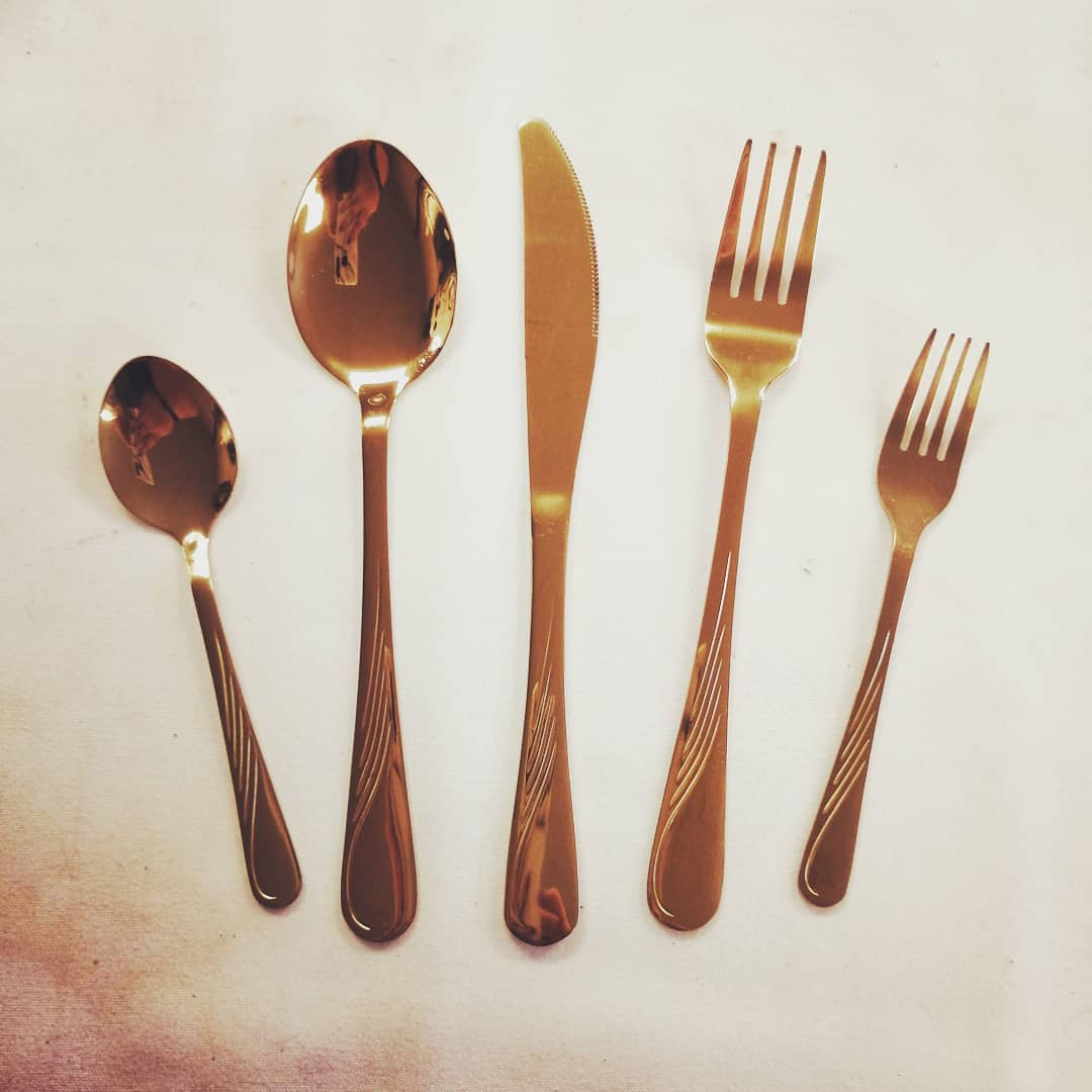Gold Flatware - Full Setting