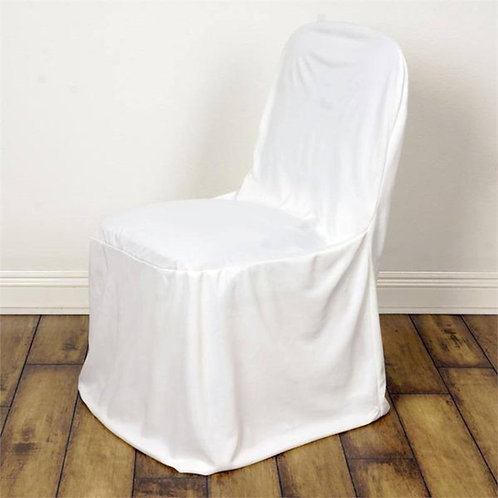 Fitted Chair Cover ~ White