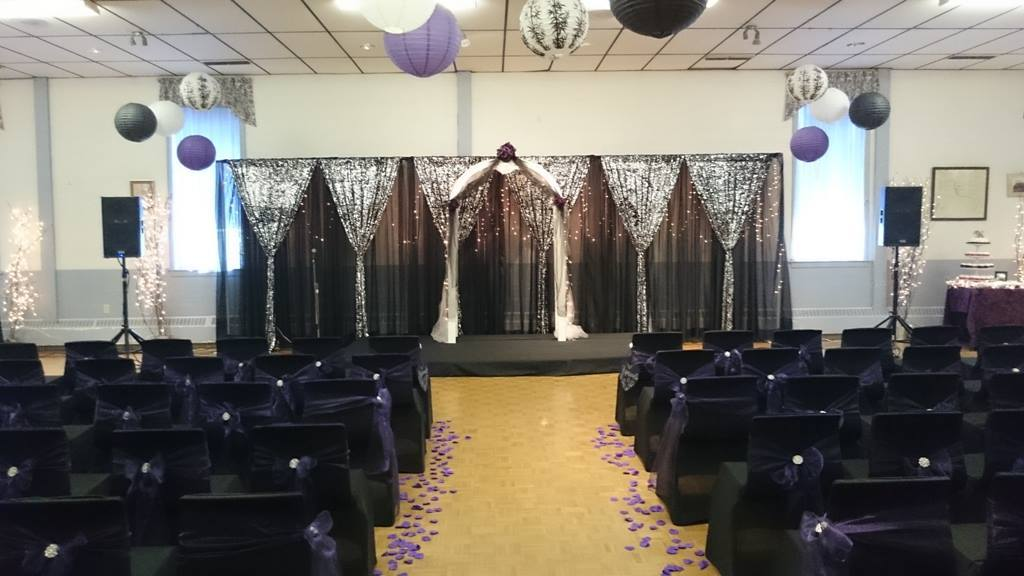 16ft Double Tier (Black & Black/Silver Sequin Sheer) - Pictou Legion