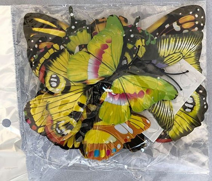 Yellow Paper Butterflies - 20 Multi-Sized Pack