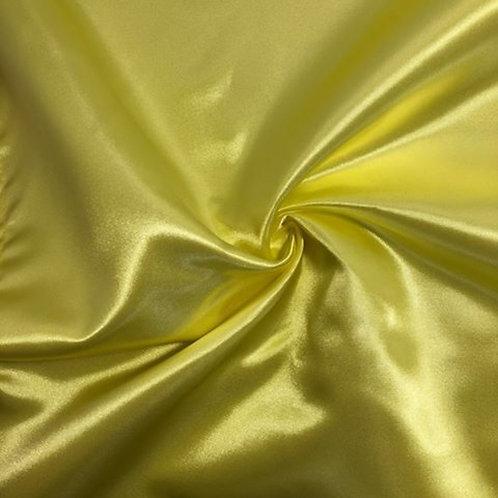 Table Runner ~ Butter Yellow Satin