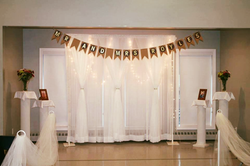 8ft Simple Double Tier Backdrop - North End Rec