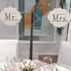 """Mr. & Mrs."" Hanging Plaques"